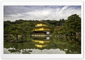 Golden Pavilion HD Wide Wallpaper for Widescreen