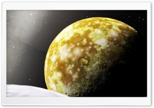 Golden Planet HD Wide Wallpaper for Widescreen
