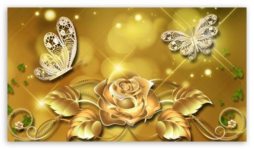 Strange Golden Rose 4K Hd Desktop Wallpaper For 4K Ultra Hd Tv Interior Design Ideas Lukepblogthenellocom