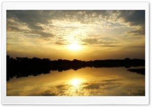 Golden Sunset HD Wide Wallpaper for Widescreen