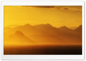 Golden Sunset, Isle of Arran, Scotland HD Wide Wallpaper for Widescreen