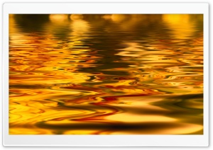 Golden Water HD Wide Wallpaper for Widescreen