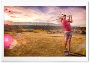 Golfer Shot HD Wide Wallpaper for Widescreen