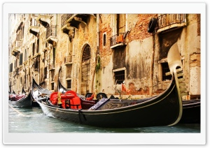 Gondola Venice HD Wide Wallpaper for 4K UHD Widescreen desktop & smartphone