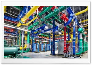 Google Data Centre HD Wide Wallpaper for Widescreen