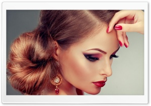 Gorgeous Makeup HD Wide Wallpaper for Widescreen
