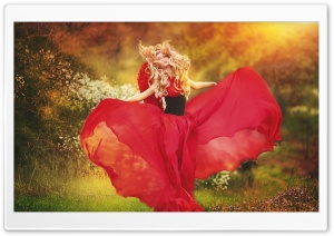 Gorgeous Red Dress HD Wide Wallpaper for Widescreen