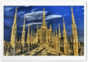 Gothic Building HDR HD Wide Wallpaper for Widescreen