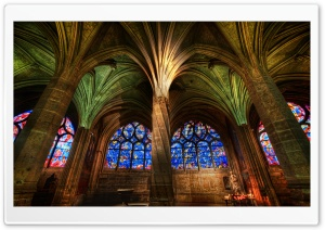 Gothic Cathedral Interior HD Wide Wallpaper for Widescreen