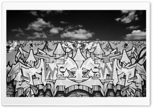 Graffiti Black And White HD Wide Wallpaper for 4K UHD Widescreen desktop & smartphone