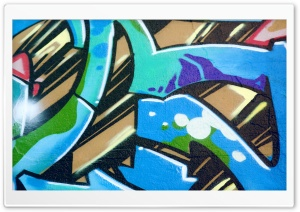 Graffiti Blue HD Wide Wallpaper for 4K UHD Widescreen desktop & smartphone