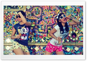 Graffiti Girls HD Wide Wallpaper for Widescreen