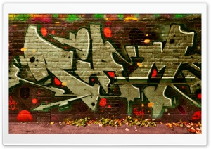 Graffiti October Falls HD Wide Wallpaper for Widescreen