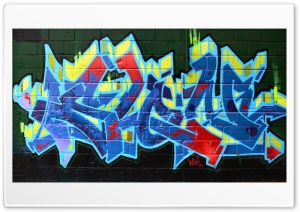 Graffiti On Wall Ultra HD Wallpaper for 4K UHD Widescreen desktop, tablet & smartphone