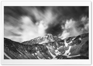 Gran Sasso Mounatins Black and White HD Wide Wallpaper for 4K UHD Widescreen desktop & smartphone