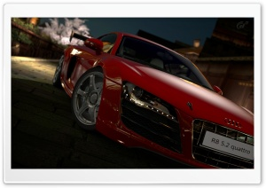 Gran Turismo 5 Audi R8 5 2 Quattro Red HD Wide Wallpaper for Widescreen