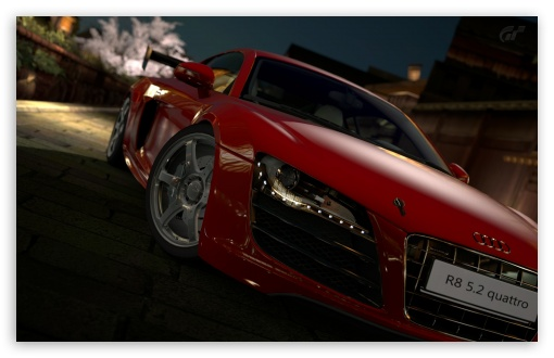 Gran Turismo 5 Audi R8 5 2 Quattro Red HD wallpaper for Wide 16:10 5:3 Widescreen WHXGA WQXGA WUXGA WXGA WGA ; HD 16:9 High Definition WQHD QWXGA 1080p 900p 720p QHD nHD ; UHD 16:9 WQHD QWXGA 1080p 900p 720p QHD nHD ; Standard 4:3 3:2 Fullscreen UXGA XGA SVGA DVGA HVGA HQVGA devices ( Apple PowerBook G4 iPhone 4 3G 3GS iPod Touch ) ; iPad 1/2/Mini ; Mobile 4:3 5:3 3:2 16:9 - UXGA XGA SVGA WGA DVGA HVGA HQVGA devices ( Apple PowerBook G4 iPhone 4 3G 3GS iPod Touch ) WQHD QWXGA 1080p 900p 720p QHD nHD ;