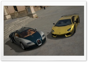 Gran Turismo Lamborghini and Bugatti HD Wide Wallpaper for Widescreen