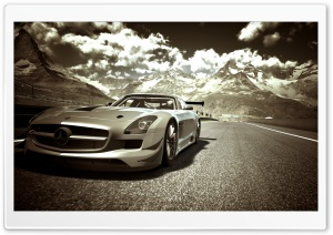 Gran Turismo Mercedes Race Car HD Wide Wallpaper for Widescreen