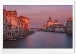 Grand Canal, Venice, Sunset HD Wide Wallpaper for Widescreen
