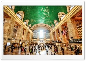Grand Central Terminal, NYC, New York HD Wide Wallpaper for 4K UHD Widescreen desktop & smartphone