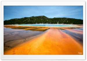 Grand Prismatic Spring, Yellowstone National Park, Wyoming HD Wide Wallpaper for Widescreen