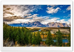 Grand Teton National Park, Autumn HD Wide Wallpaper for 4K UHD Widescreen desktop & smartphone