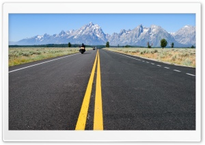 Grand Teton National Park Road HD Wide Wallpaper for Widescreen