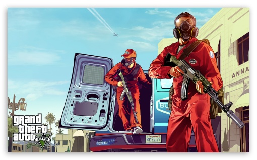 Grand Theft Auto: V HD wallpaper for Wide 5:3 Widescreen WGA ; HD 16:9 High Definition WQHD QWXGA 1080p 900p 720p QHD nHD ; Mobile 5:3 16:9 - WGA WQHD QWXGA 1080p 900p 720p QHD nHD ;