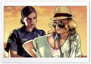 Grand Theft Auto: V HD Wide Wallpaper for Widescreen