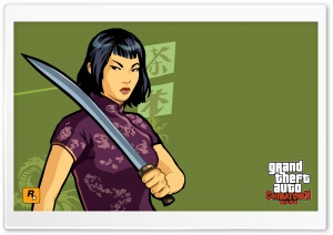 Grand Theft Auto Chinatown Wars Ling HD Wide Wallpaper for Widescreen