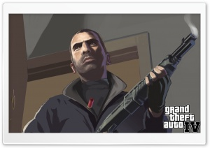 Grand Theft Auto IV HD Wide Wallpaper for Widescreen