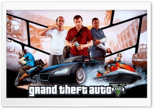GRAND THEFT AUTO V HD Wide Wallpaper for Widescreen
