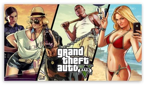 Grand Theft Auto V HD wallpaper for HD 16:9 High Definition WQHD QWXGA 1080p 900p 720p QHD nHD ; Mobile 16:9 - WQHD QWXGA 1080p 900p 720p QHD nHD ;