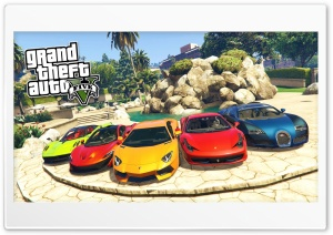 Grand Theft Auto V Cars HD Wide Wallpaper for 4K UHD Widescreen desktop & smartphone