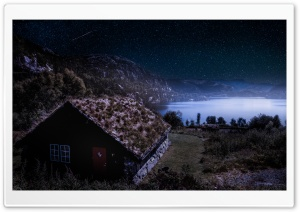 Grass Roof Cabin, Norway HD Wide Wallpaper for Widescreen