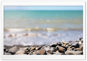 Gravel On A Beach HD Wide Wallpaper for 4K UHD Widescreen desktop & smartphone