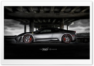 Gray Ferrari HD Wide Wallpaper for Widescreen