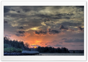 Gray Sunset Clouds HD Wide Wallpaper for Widescreen