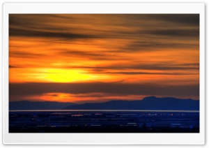 Great Salt Lake Sunset HD Wide Wallpaper for Widescreen