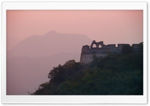 Great Wall In The Evening Light HD Wide Wallpaper for 4K UHD Widescreen desktop & smartphone