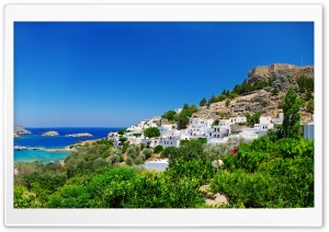 Greece Coast HD Wide Wallpaper for Widescreen