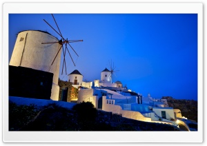 Greece Windmills HD Wide Wallpaper for Widescreen