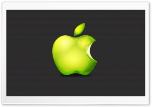 Green Apple Logo HD Wide Wallpaper for Widescreen