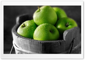 Green Apples HD Wide Wallpaper for 4K UHD Widescreen desktop & smartphone