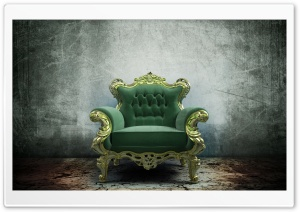 Green Armchair HD Wide Wallpaper for Widescreen