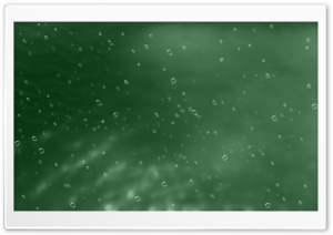 Green Background With Bubbles HD Wide Wallpaper for Widescreen