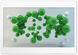 Green Balls HD Wide Wallpaper for Widescreen
