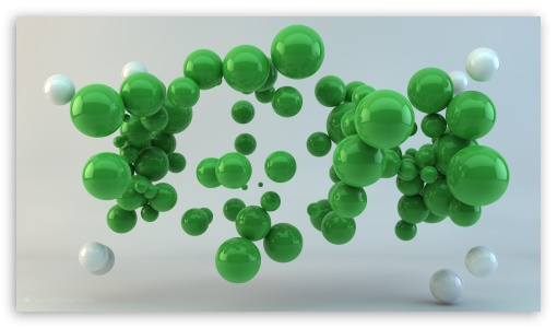 Green Balls HD desktop wallpaper