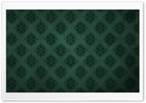 Green Damask Background HD Wide Wallpaper for Widescreen